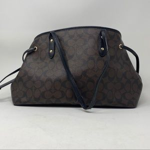 Coach signature drawstring carryall pre owned